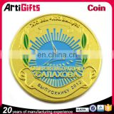 China factory supply cheap soft enamel gold plated coins