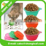 Collapsible Silicone pet bowl Travel Outdoor