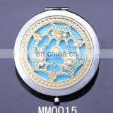 wholesale fashion gold crown jewelry rhinestone relief compact mirror