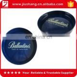Promotional round non slip bar serving tray(bar beer tray)