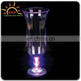 shining LED flashing 600ml plastic hurricane cup for bar