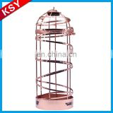 Good Reputation Factory Price Romantic Display Fashion Metal Single Wire Wine Bottles Rack
