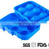 FDA Silicone 6 Spheres Ice Tray,Large Round Ice Ball Maker,Silicone Whiskey Ice Ball Mold