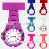 Round face rubber fob nurse watch with multiple colors, pin nurse watch, plastic nurse watch                                                                         Quality Choice