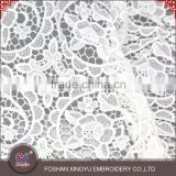 Chinese Manufacturer cutwork embroidery dress types of net lace fabric with meticulous care design