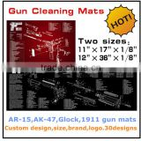 2016 new design custom AR-15,AK47,Glcok,1911 gun cleaning mat,gun mat for rifle & pistol preparing and cleaning                                                                         Quality Choice