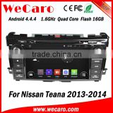 Wecaro WC-NT8061 Android 4.4.4 car dvd player quad core for nissan teana car audio player audio system bluetooth 2013 2014 2015