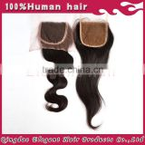 Qingdao elegant hair wholesale brazilian human hair U part human hair topper hair closure
