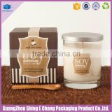 Lovely design luxury custom special paper printed all natural soy moisturing candle packaging boxes