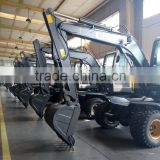 Hydraulic Excavator, Mini Excavator Used Low Price,Excavator Bucket, Walking Wheel Excavator, 8T Wheel Excavator