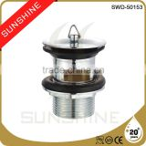 SWD-50153 Bathroom and toilet brass sink drain plugs with overflow