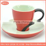 coffee bulk tea cup and saucer sets accept custom logo special design delicate high quality grade fine bone china thin porcelain