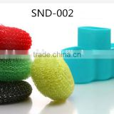 Hot sale high quality FDA and LFGB colorful silicone sponge soap holder/silicone storage bag kitchen producrs
