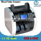 Mixed Denomination&Multi-Currency Counter/Money Counter/Bill Counter with UV,MG/MT,IR Detection for U.S.Dollar(USD) & Euro(EUR)