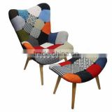 High Qulaity Comfortable Living Room Leisure Contour Sofa Chair/ Patchwork Sectional Sofa with Footstool