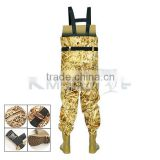 CHN-81203M new design camo fishing wander pants chest fishing waders suit