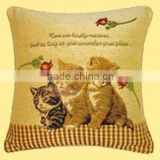 Charming Comfortable Three Lovely Little Cats Design Printed Cartoon Cushion Cover CT-036