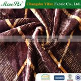China manufacturer tie dye lycra stretch polyester velour fabric 4 way stretch fabric for home textile, cloths