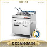 HEF-90 commercial used double tank electric fryer factory