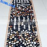 Pebble Foot Massage Mat 40*150mm Chinese Character Happiness blanket Smooth Colorful Natural Stone