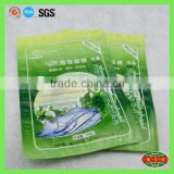 big cosmetic packing vacuum zipper bag , printing lamination bag with heat sealing