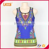 The factory price wholesale women tank tops, plain tank tops,African dashiki tops                                                                         Quality Choice