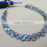 Labradorite Micro 4-5 mm Faceted Heart Shape Briolette beads AAA best quality Labradorite beads
