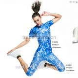Blue Lady's Sports Compression Wear, Compression tights,China outdoor compression long Sleeve