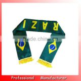 Brazil scarf,150*18cm football scarf,world cup scarves for promotion