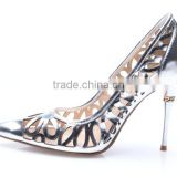 2016 roman fashion sexy high heels silver leather women shoes salsa dancing heels