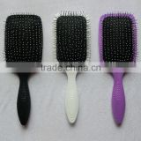 Professional detangling paddle hair brush with massage ball tips