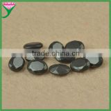 wholesale price black faceted oval shape hematite stone