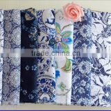 Blue and white porcelain imitation wax printing curtain/table/garment fabric