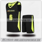 sublimation basketball uniforms, designer basketball jersey black                                                                                                         Supplier's Choice