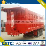 3 Axles Rear Hydraulic Dump Trailer Tail Lift 40ton Truck Tractor for sale