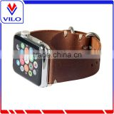 Wholesale Handmade 20mm 22mm Brown Genuine leather Straps For Apple Watch