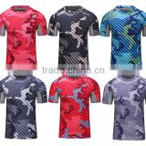 Latest wear designs men custom t-shirt sports wear quick-drying running camo tshirt round neck short sleeve tops for men