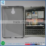 2015 New TPU Phone Case For Blackberry Passport silver edition S-line Gel Soft Mobile Covers