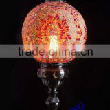 Evershining Lighting Big Ball Glass Turkish Mosaic Wrought Iron Table Lamp YMA431