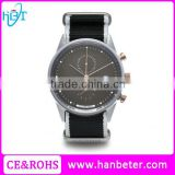 Classic Hardened Mineral Crystal watch stainless steel back fashion quartz watch with NATO strap