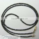 100% Natural Real Loose Black Diamond Faceted Beads Strands