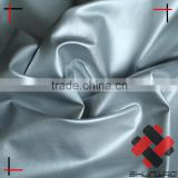 polyester pongee dull hot stamping foil silver fabric soft feel for winter coat down jacket