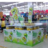 Supermarket Point of Sales Corrugated paper Big display stand Cardboard Pallet display for advertising hot sales
