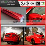 Good Air bubble free wrap 1.52*20M red chrome vinyl car wrap with stretchability vinyl wrap