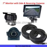 7-Inch Heavy Duty Monitor and two 120 Mounted RV Backup Cameras (RV Backup System)