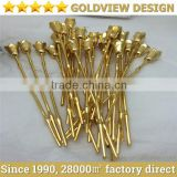 real gold plating gold plated flower , gold plating service , shenzhen changjing , goldview gold plating