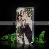 2016 new style love photo acrylic photo block wholesale