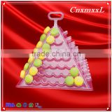 hot sells new style wholesale 7 tier plastic Macaron pyramid tower display stand &patented customizable Macaron packaging