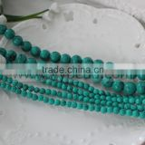 "Wholesale 6MM 10MM Natural Blue & Red Gemstone Turquoise Round Spacer Loose Beads 15""-20"""