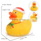Custom made bath rubber duck , promotion mini bath christmas rubber duck toy,wholesale bulk toys